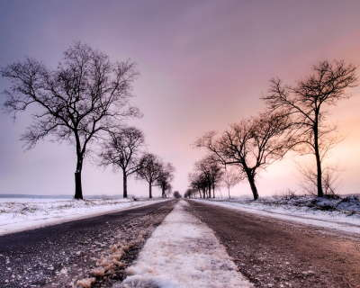 Road on Winter day
