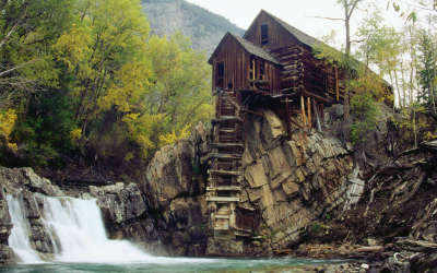 Waterfall and House