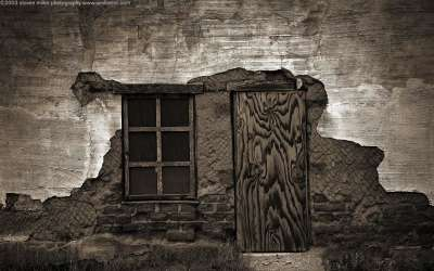 House with Door And Window