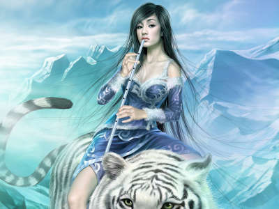 Girl on the Tiger