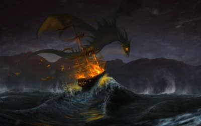 Ship on Stormy Night