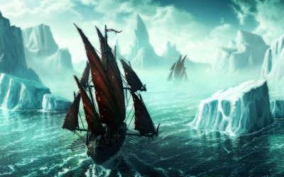 Ship on the Ice Sea