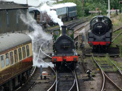 Steam Train With A Full Head Of Steam
