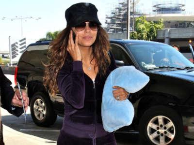 Eva Longoria Arriving At Lax