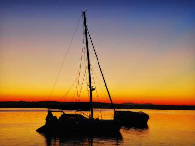 Sea Stallion At Sunrise On A Yacht Overnight At Kraal Bay