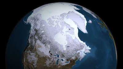 Arctic Ice Satellite of Earth