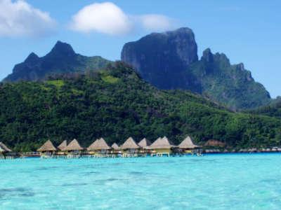 Coast View of Bora Bora