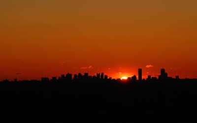 Sunrise near Boston