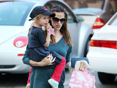 Jennifer Garner with child