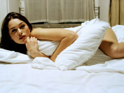 Keira Knightley in bed