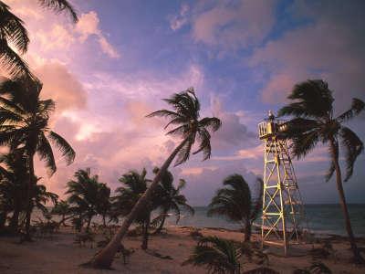 Casa Blanca Lighthouse in Yucatan Peninsula Mexico