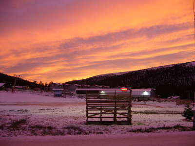 Sunset And Snow In Salen