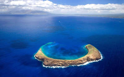 Molokini island on Hawaii