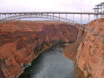 Glen Canyon And Bridge