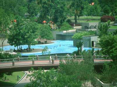 KUL KLCC Park With Bridge And Swimming Pool