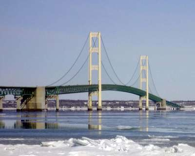 Mackinac Bridge Winter