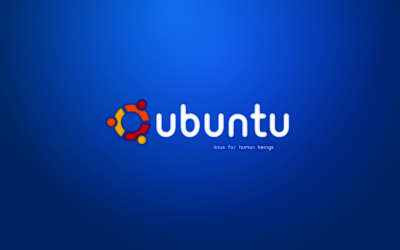 Blue Ubuntu With Logo