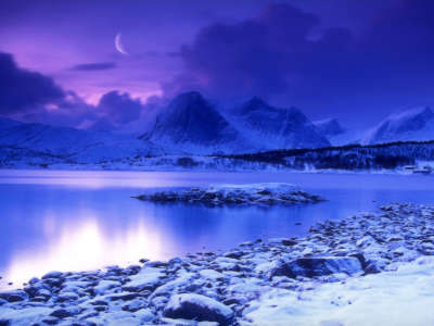 Far Out Frozen Lake
