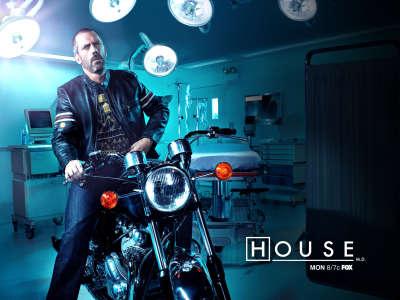 Gregory House on Motorbike