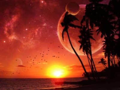 Magic Paradise Sunset