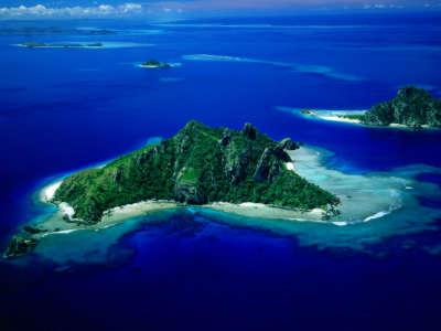 Aerial View Of Monu Island Fiji