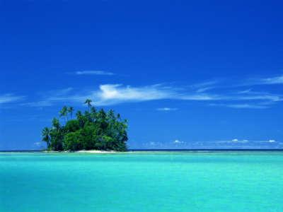 Uninhabited Coral Island on Solomon Islands