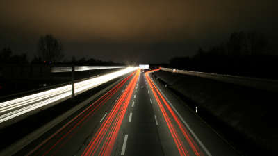 Hughway Road at night