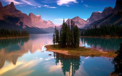 Lake with Island
