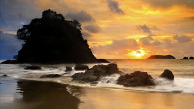 Beach with Sunset