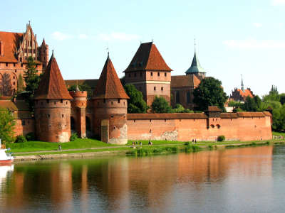 Teutonic Knights Castle At Malbork