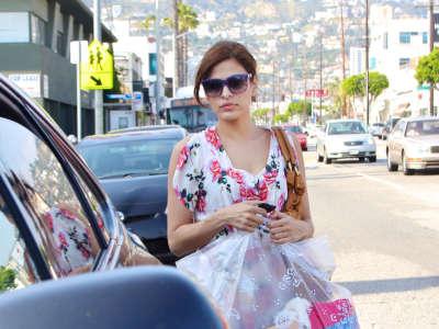 Eva Mendes Shopping In LA