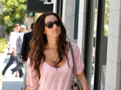 Ashley Tisdale Shoping In Beverly Hills