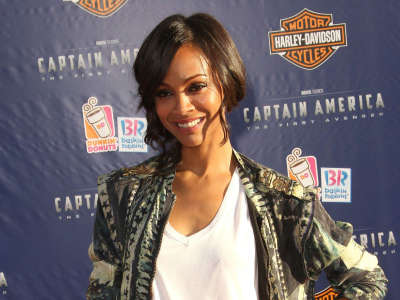 Zoe Saldana Premier Of Captain America