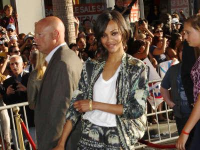 Zoe Saldana Premier Of Captain America