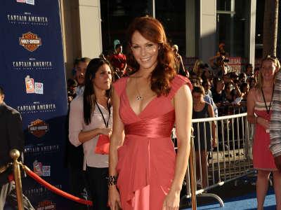 Amanda Righetti On Premiere Captain America