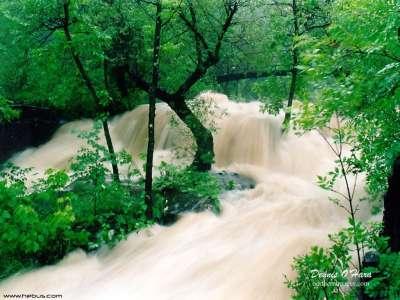 Huge Waterfall in Forrest