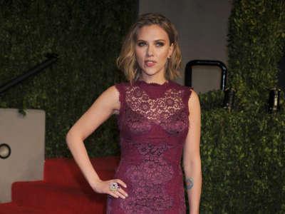 Scarlett Johansson At Vanity Fair Party