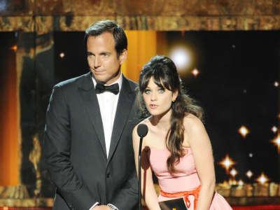 Zooey Deschanel At Emmy Awards