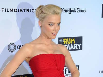 Amber Heard The Rum Diary Premiere