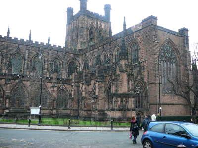 Chester Katedrale England Urlaub Foto