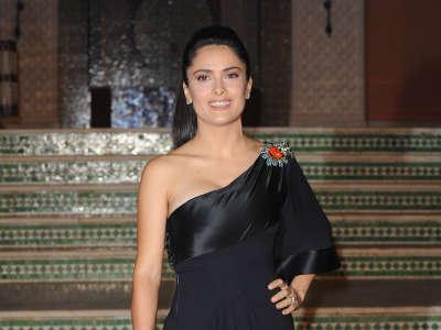 Salma Hayek In Morocco