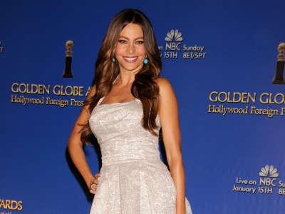Sofia Vergara At Golden Globe Awards