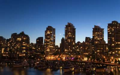 Downtown vancouver twilight