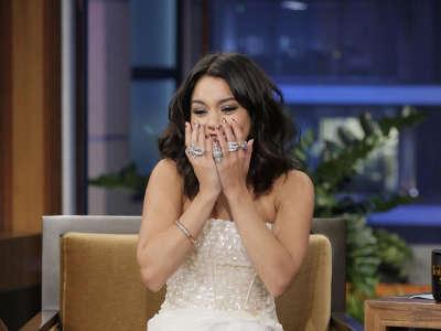 Vanessa Hudgens At Tonight Show With Jay Leno