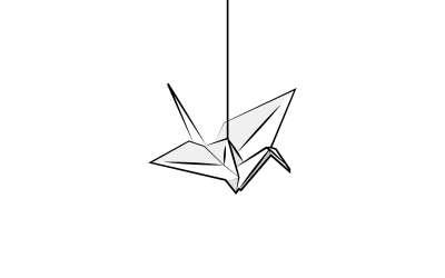 1000 Cranes For Japan Sans Text