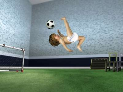 Baby and Soccer