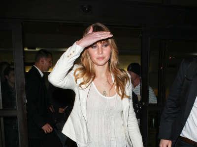 Jennifer Lawrence At LAX