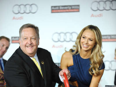 Stacy Keibler At Grand Opening Of Audi