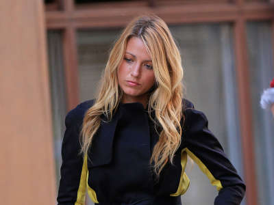 Blake Lively At Filming Gossip Girls In Nyc
