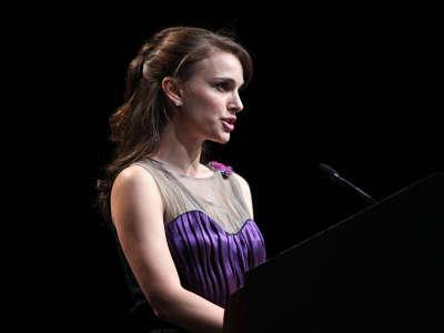 Natalie Portman At Memorial Museum